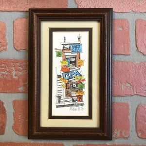 Vintage Framed Artwork 1978